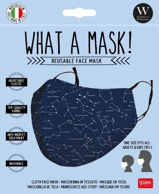 Star print washable face mask