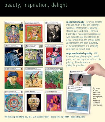2021 Art Page A Day Gallery Calendar by Workman Calendars