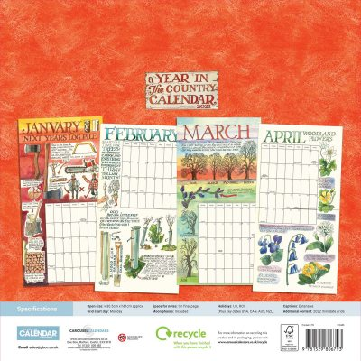 2021 Matthew Rice, A Year In The Country Wall Calendar | Waterstones
