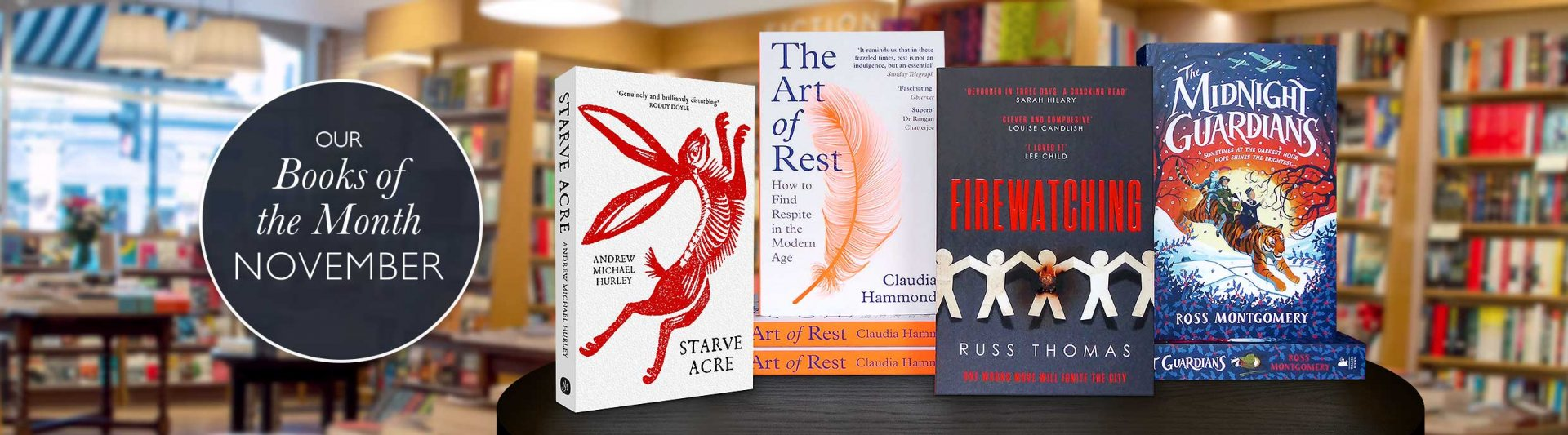 Waterstones Books of the month - November