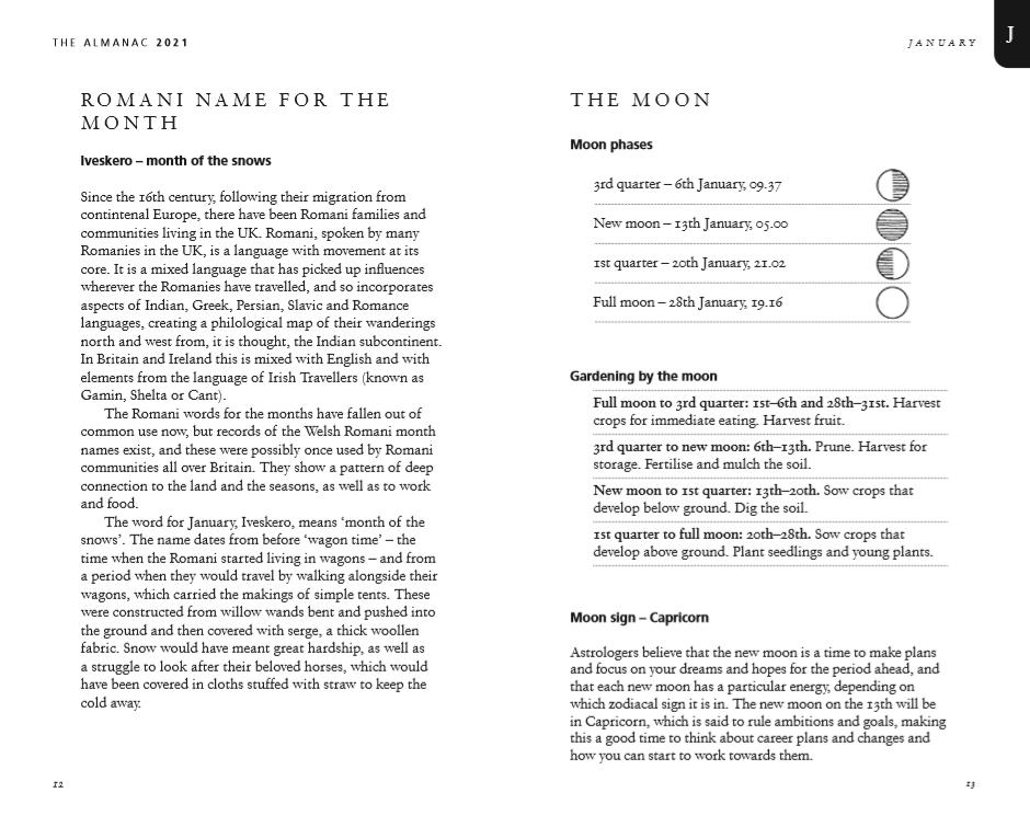The Almanac: A Seasonal Guide to 2021 (Hardback)