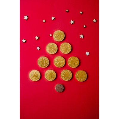 Divine Milk Chocolate Coins 65G X 25