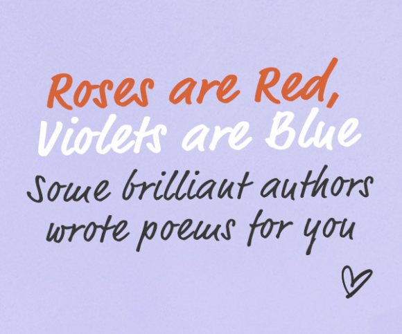 Roses are red, violets are blue: Exclusive Poems and Our Top 10 Books of Poetry for Valentine's Day