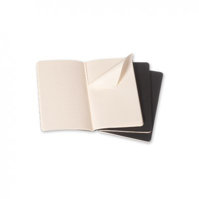 Moleskine Ruled Cahier - Black Cover (3 Set) - Moleskine Cahier