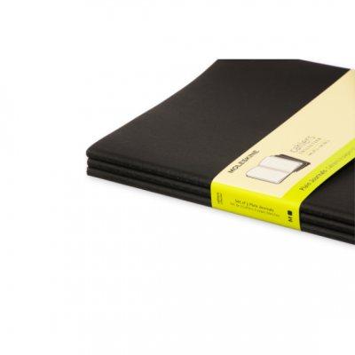 Moleskine Plain Cahier Xl - Black Cover (3 Set) - Moleskine Cahier