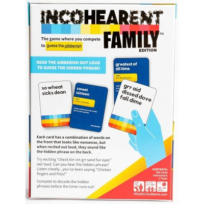 Incohearent Card Game Family Edition