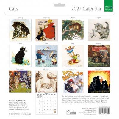 2022 V&A Cats Wall Calendar (Calendar)