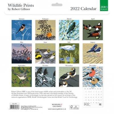 2022 Robert Gilmor Wildlife Prints Wall Calendar (Calendar)