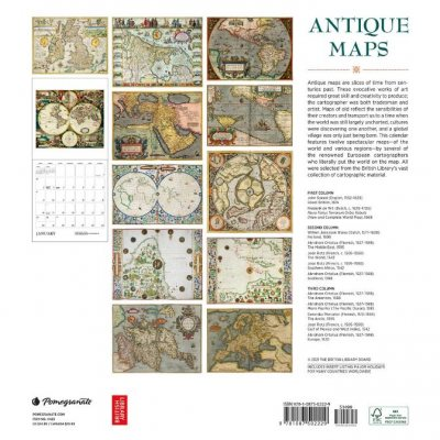 2022 Antique Maps Wall Calendar (Calendar)