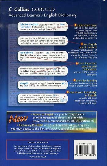 COBUILD Advanced Learner's English Dictionary - Collins COBUILD Dictionaries for Learners (Hardback)