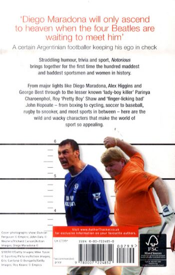 Notorious: The Maddest and Baddest Sportsmen on the Planet (Paperback)