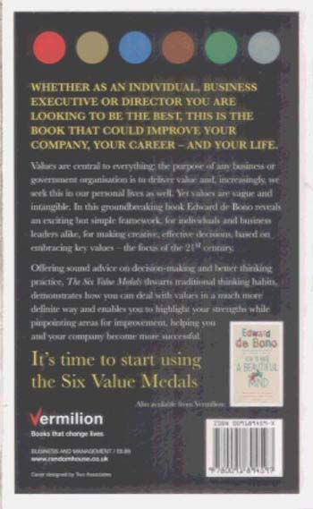 The Six Value Medals (Paperback)