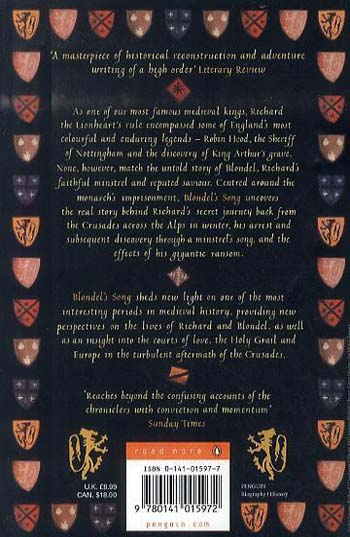 Blondel's Song: The capture, Imprisonment and Ransom of Richard the Lionheart (Paperback)