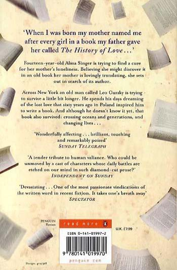 The History of Love - Penguin Essentials (Paperback)