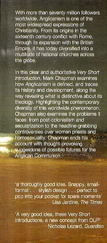 Anglicanism: A Very Short Introduction - Very Short Introductions (Paperback)