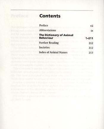 A Dictionary of Animal Behaviour - Oxford Quick Reference (Paperback)