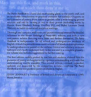 The Poetry Handbook (Paperback)