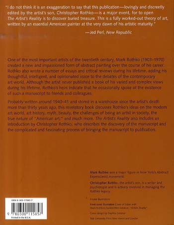 The Artist's Reality: Philosophies of Art (Paperback)