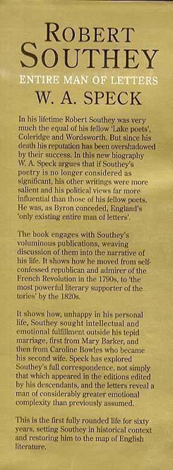 Robert Southey: Man of Letters (Hardback)