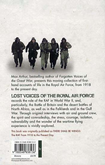 Lost Voices of The Royal Air Force (Paperback)