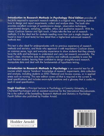 Introduction to Research Methods in Psychology Third Edition (Paperback)