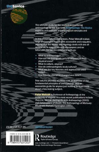 Anthropology: The Basics - The Basics S. (Paperback)