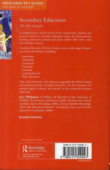 Secondary Education: The Key Concepts - Routledge Key Guides (Paperback)