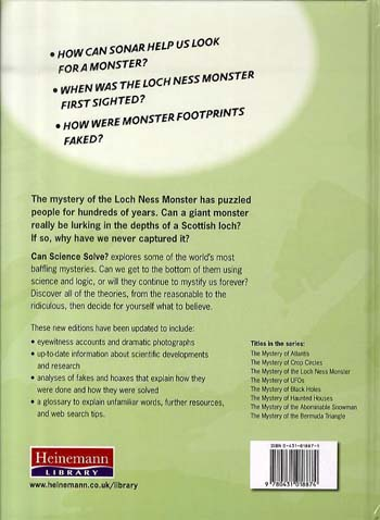 The Mystery of the Loch Ness Monster - Can Science Solve...? (Hardback)