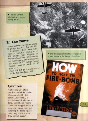 The Blitz on Britain - World at War-World War II (Paperback)