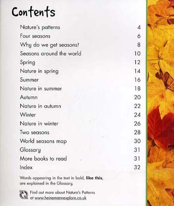 Season to Season - Young Explorer: Nature's Patterns (Paperback)
