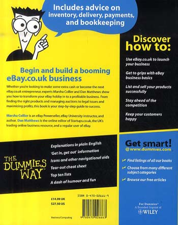 Starting a Business on eBay.co.uk For Dummies (Paperback)