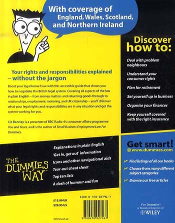 UK Law and Your Rights For Dummies (Paperback)