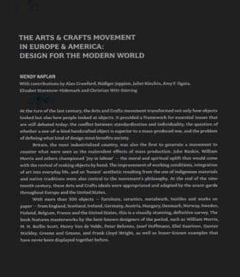 The Arts & Crafts Movement in Europe & America: Design for the Modern World 1880-1920 (Hardback)