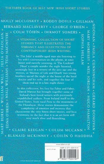 The Faber Book of Best New Irish Short Stories 2004-05 (Paperback)