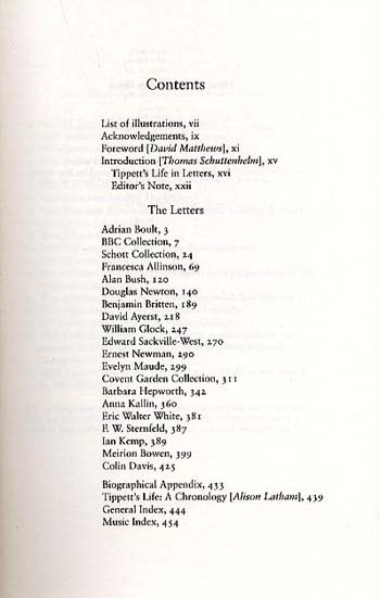 Selected Letters of Michael Tippett (Hardback)