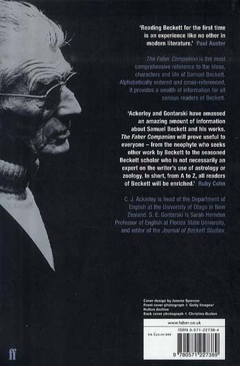 The Faber Companion to Samuel Beckett: A Reader's Guide to his Works, Life, and Thought (Paperback)