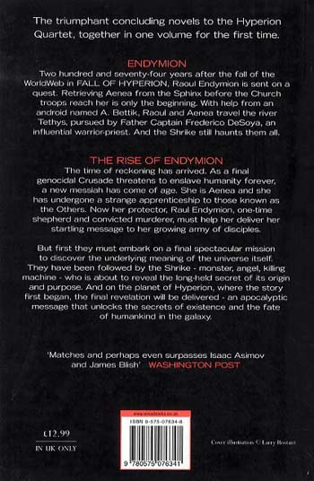 """The Endymion Omnibus: """"Endymion"""", """"The Rise of Endymion"""" - Gollancz S.F. (Paperback)"""