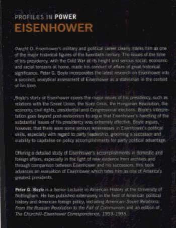 Eisenhower - Profiles In Power (Paperback)