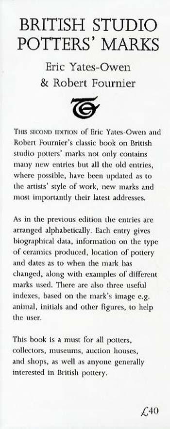 British Studio Potters' Marks (Hardback)