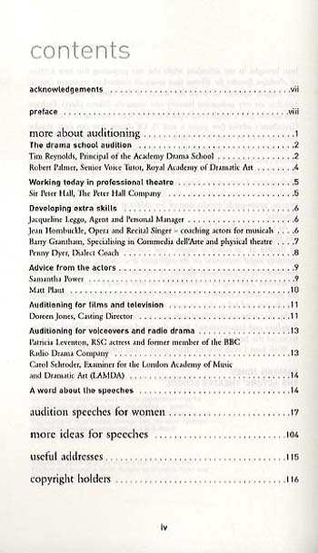 Audition Speeches for Women - Audition Speeches (Paperback)