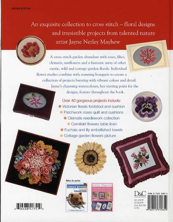Jayne Netley Mayhew's Cross Stitch Flowers (Hardback)