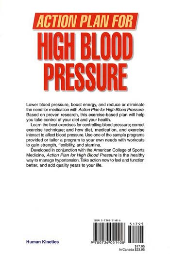 Action Plan for High Blood Pressure - ACSM Action Plan for Health S. (Paperback)