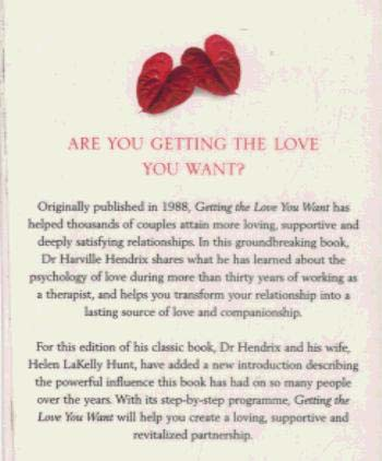 Getting The Love You Want: A Guide for Couples (Paperback)