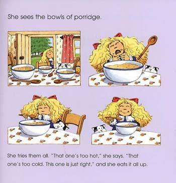 Usborne Fairytale Sticker Stories Goldilocks And The Three Bears - Fairytale Sticker Stories (Paperback)