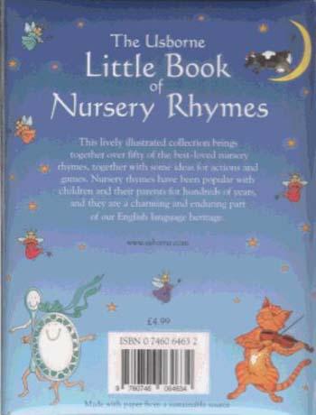 Little Book Of Nursery Rhymes Paperback
