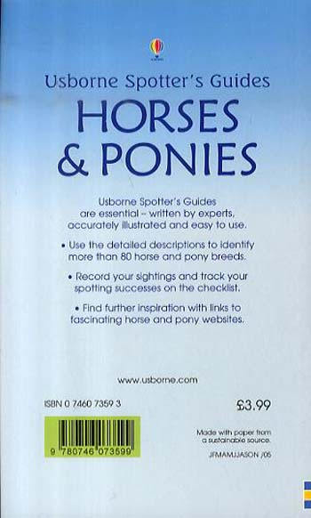 Horses And Ponies - Spotter's Guide (Paperback)
