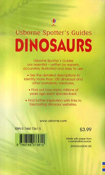 Dinosaurs Spotters Guides - Spotter's Guide (Paperback)