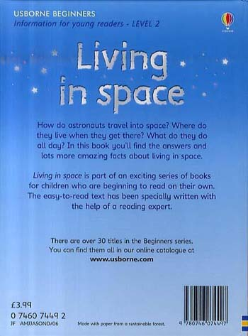 ... Living In Space   Beginners Series (Hardback) ...