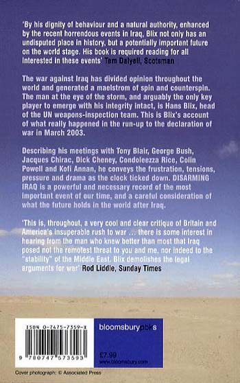 Disarming Iraq: The Search for Weapons of Mass Destruction (Paperback)