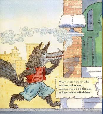 Winston the Book Wolf (Hardback)